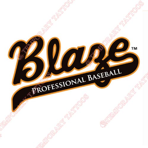 Bakersfield Blaze Customize Temporary Tattoos Stickers NO.7647