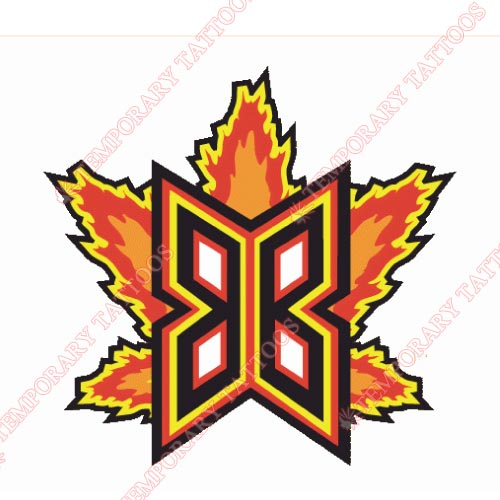 Bakersfield Blaze Customize Temporary Tattoos Stickers NO.7648
