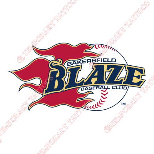 Bakersfield Blaze Customize Temporary Tattoos Stickers NO.7650