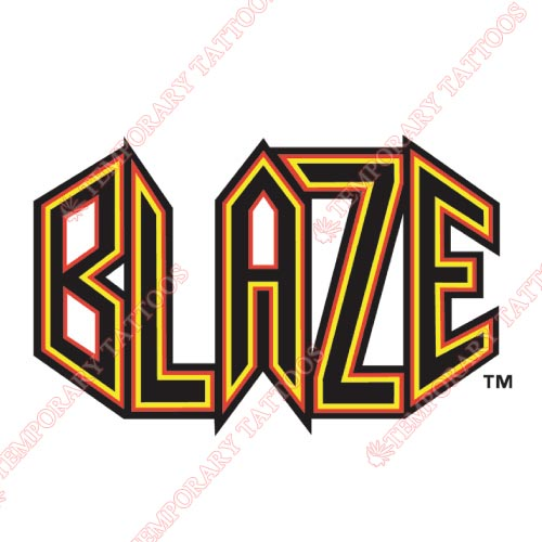 Bakersfield Blaze Customize Temporary Tattoos Stickers NO.7651