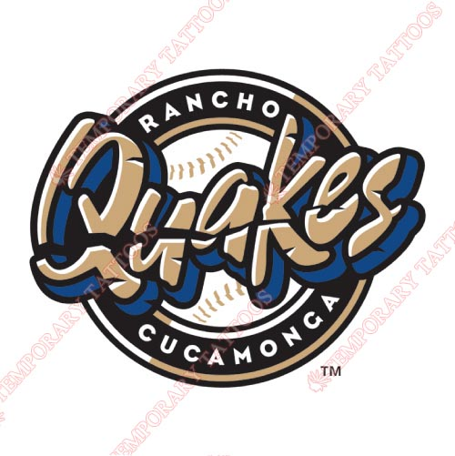 Rancho Cucamonga Quakes Customize Temporary Tattoos Stickers NO.7677