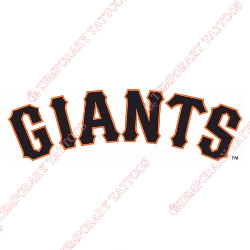 San Jose Giants Customize Temporary Tattoos Stickers NO.7682