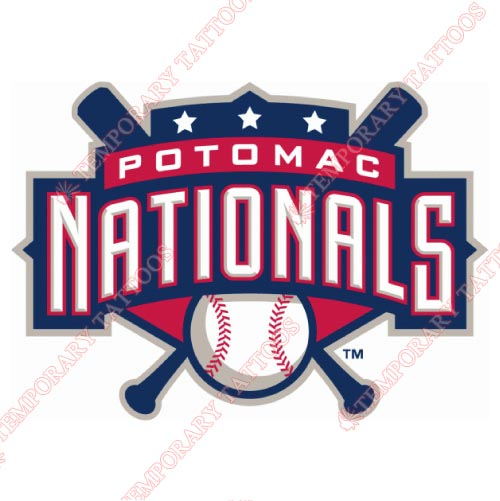 Potomac Nationals Customize Temporary Tattoos Stickers NO.7796