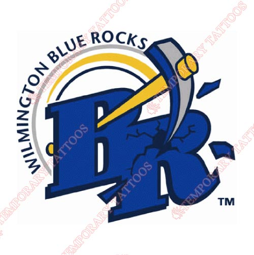 Wilmington Blue Rocks Customize Temporary Tattoos Stickers NO.7798