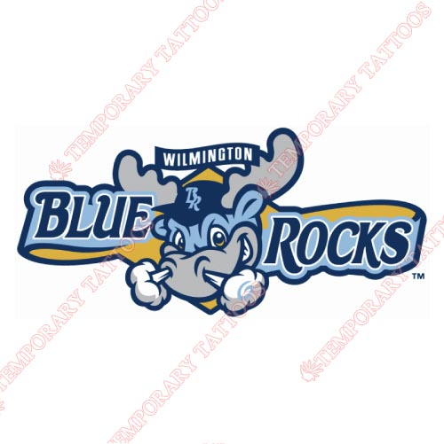 Wilmington Blue Rocks Customize Temporary Tattoos Stickers NO.7806