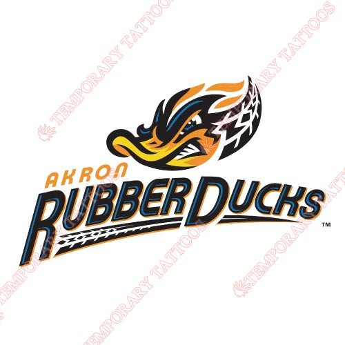 Akron Rubber Ducks Customize Temporary Tattoos Stickers NO.7810
