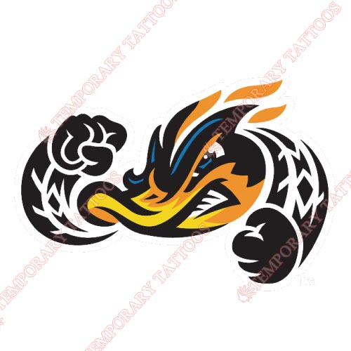Akron Rubber Ducks Customize Temporary Tattoos Stickers NO.7813