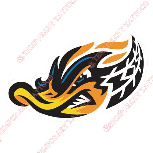 Akron Rubber Ducks Customize Temporary Tattoos Stickers NO.7815
