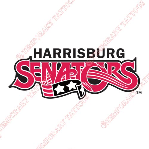 Harrisburg Senators Customize Temporary Tattoos Stickers NO.7837
