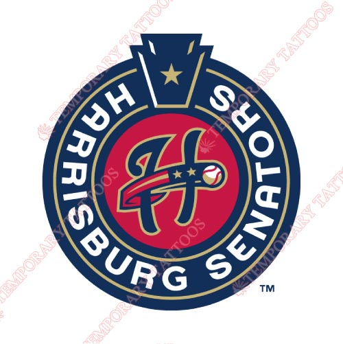 Harrisburg Senators Customize Temporary Tattoos Stickers NO.7841