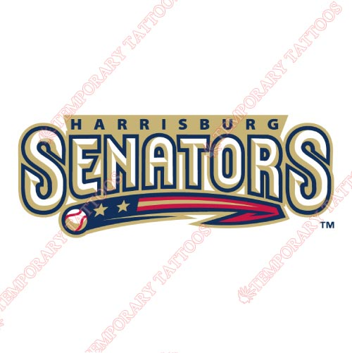 Harrisburg Senators Customize Temporary Tattoos Stickers NO.7842