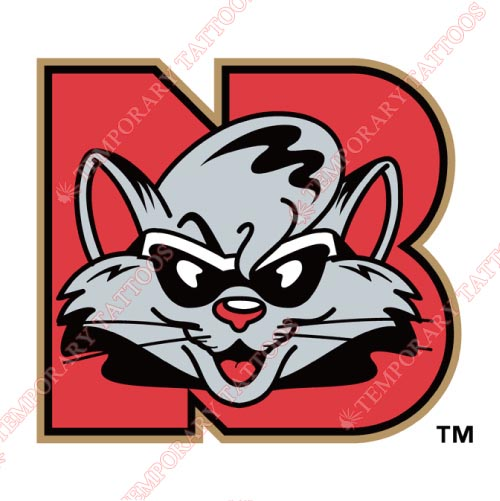 New Britain Rock Cats Customize Temporary Tattoos Stickers NO.7849