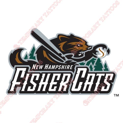 New Hampshire Fisher Cats Customize Temporary Tattoos Stickers NO.7856