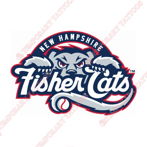 New Hampshire Fisher Cats Customize Temporary Tattoos Stickers NO.7857