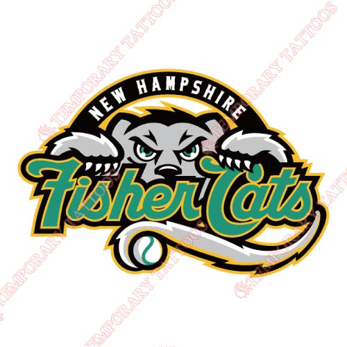 New Hampshire Fisher Cats Customize Temporary Tattoos Stickers NO.7859