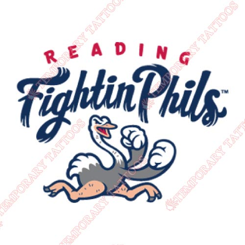 Reading Fightin Phils Customize Temporary Tattoos Stickers NO.7862