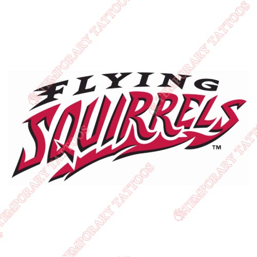 Richmond Flying Squirrels Customize Temporary Tattoos Stickers NO.7870