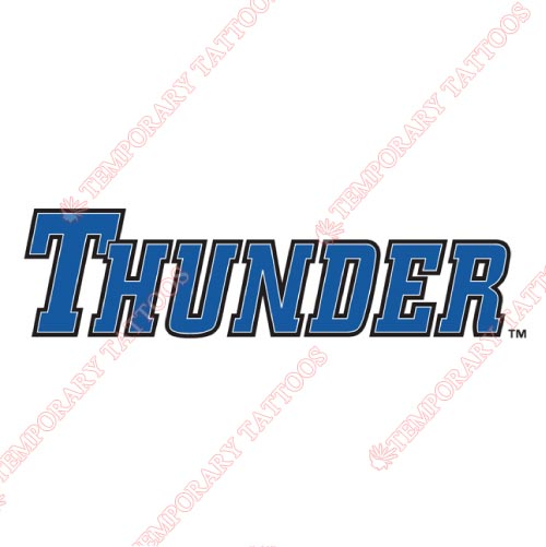Trenton Thunder Customize Temporary Tattoos Stickers NO.7876