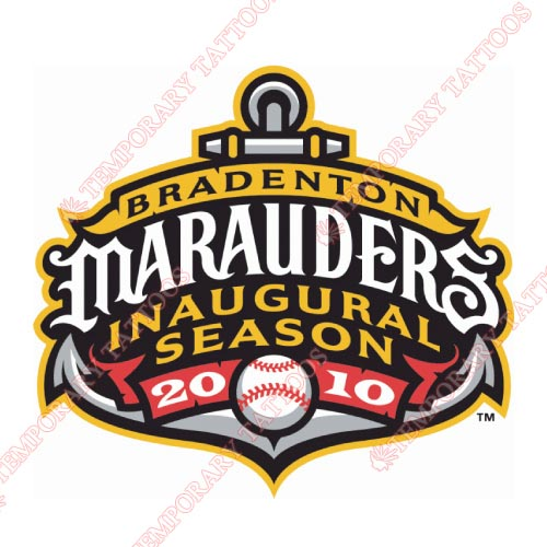 Bradenton Marauders Customize Temporary Tattoos Stickers NO.7880