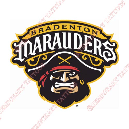 Bradenton Marauders Customize Temporary Tattoos Stickers NO.7881