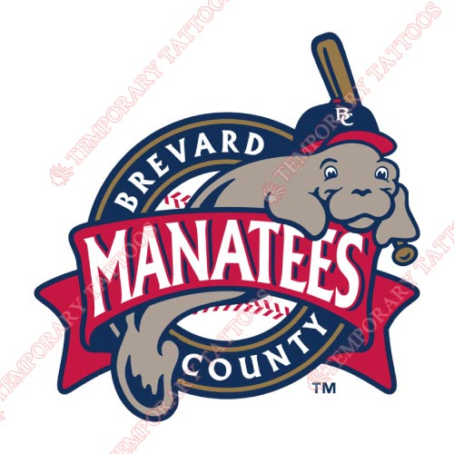 Brevard County Manatees Customize Temporary Tattoos Stickers NO.7883