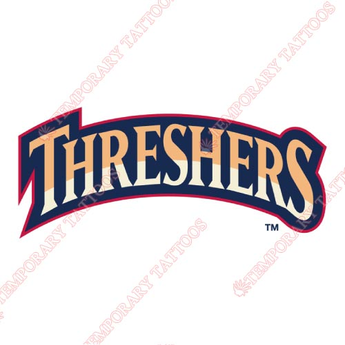 Clearwater Threshers Customize Temporary Tattoos Stickers NO.7887