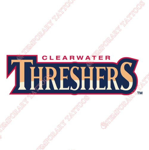 Clearwater Threshers Customize Temporary Tattoos Stickers NO.7889