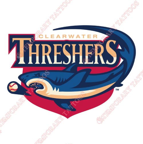 Clearwater Threshers Customize Temporary Tattoos Stickers NO.7890