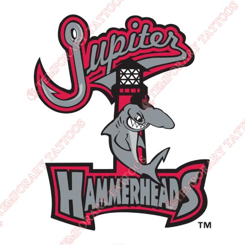 Jupiter Hammerheads Customize Temporary Tattoos Stickers NO.7910