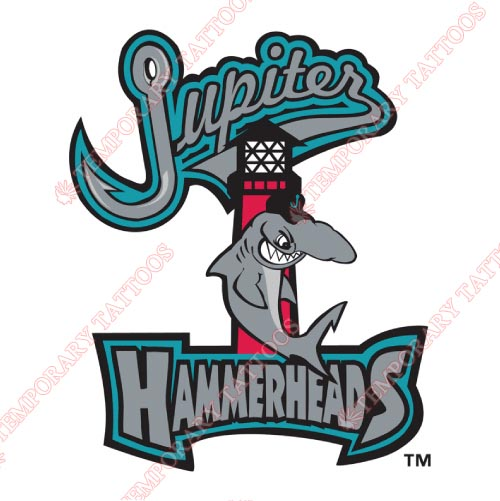 Jupiter Hammerheads Customize Temporary Tattoos Stickers NO.7912