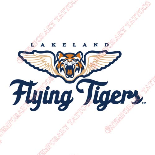 Lakeland Flying Tigers Customize Temporary Tattoos Stickers NO.7914