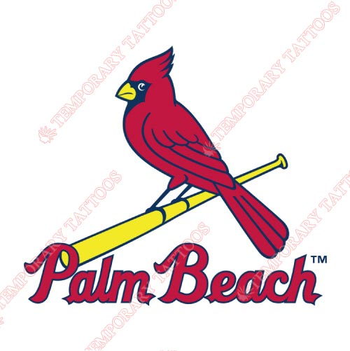 Palm Beach Cardinals Customize Temporary Tattoos Stickers NO.7918