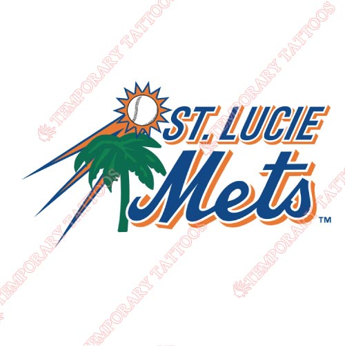 St Lucie Mets Customize Temporary Tattoos Stickers NO.7919