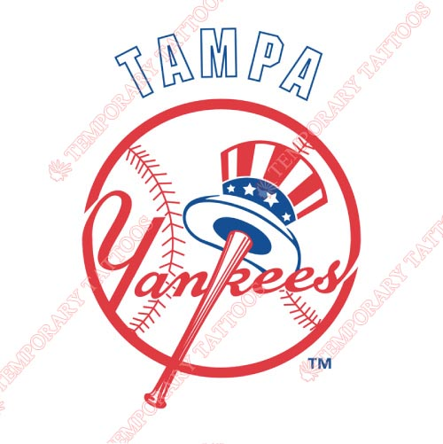 Tampa Yankees Customize Temporary Tattoos Stickers NO.7926