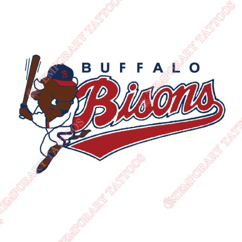 Buffalo Bisons Customize Temporary Tattoos Stickers NO.7932