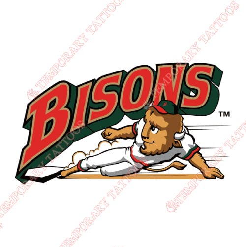Buffalo Bisons Customize Temporary Tattoos Stickers NO.7937