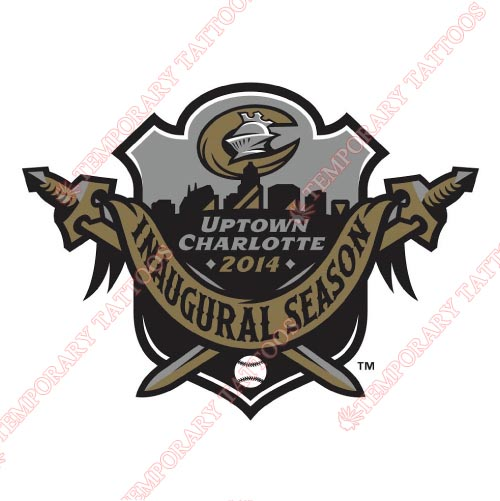 Charlotte Knights Customize Temporary Tattoos Stickers NO.7945
