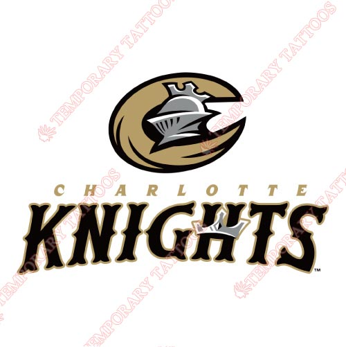Charlotte Knights Customize Temporary Tattoos Stickers NO.7949