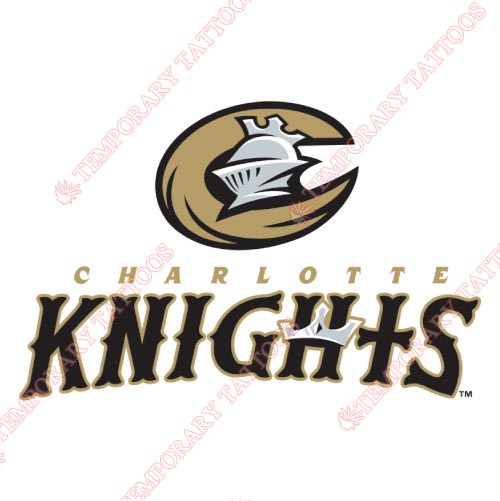 Charlotte Knights Customize Temporary Tattoos Stickers NO.7950