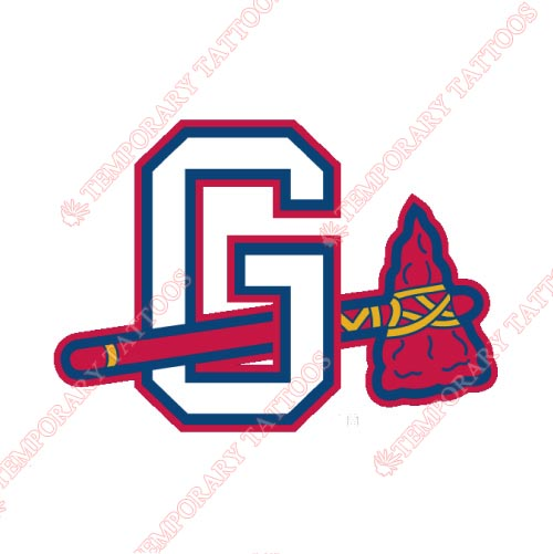 Gwinnett Braves Customize Temporary Tattoos Stickers NO.7967