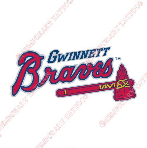 Gwinnett Braves Customize Temporary Tattoos Stickers NO.7968