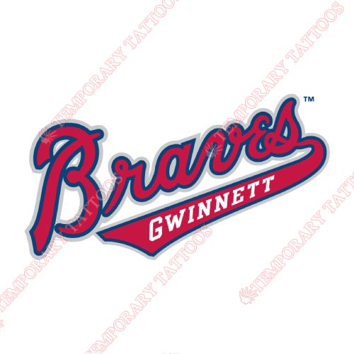Gwinnett Braves Customize Temporary Tattoos Stickers NO.7969