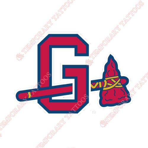 Gwinnett Braves Customize Temporary Tattoos Stickers NO.7970