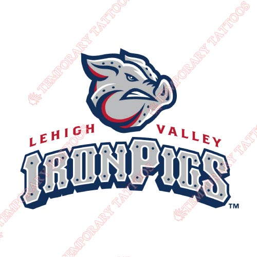 Lehigh Valley IronPigs Customize Temporary Tattoos Stickers NO.7979