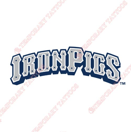 Lehigh Valley IronPigs Customize Temporary Tattoos Stickers NO.7982