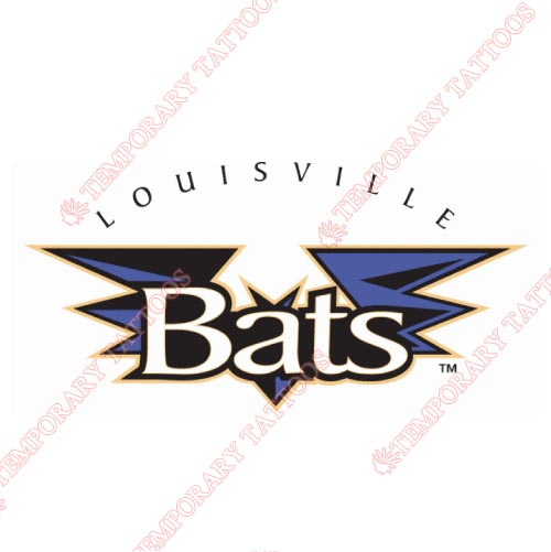 Louisville Bats Customize Temporary Tattoos Stickers NO.7987