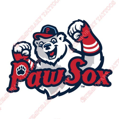 Pawtucket Red Sox Customize Temporary Tattoos Stickers NO.7993