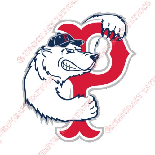 Pawtucket Red Sox Customize Temporary Tattoos Stickers NO.7996