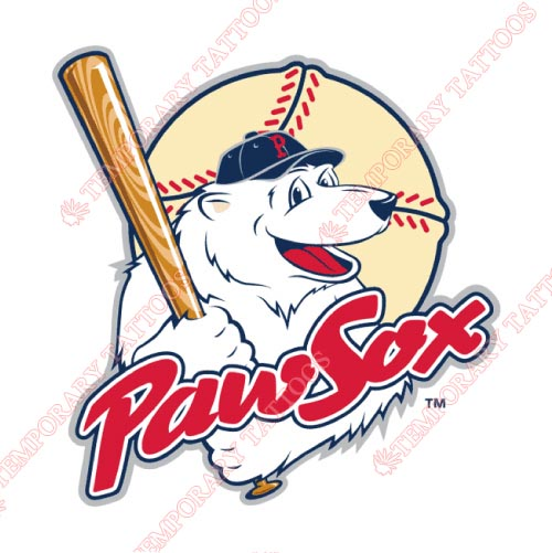 Pawtucket Red Sox Customize Temporary Tattoos Stickers NO.7998