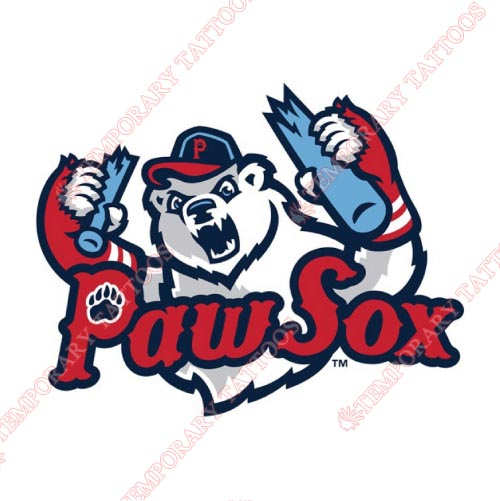 Pawtucket Red Sox Customize Temporary Tattoos Stickers NO.7999